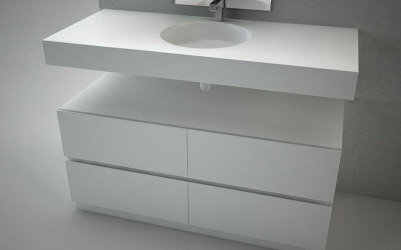 Platos ducha resina lavabos encimeras y ba eras de corian for Muebles de modulos