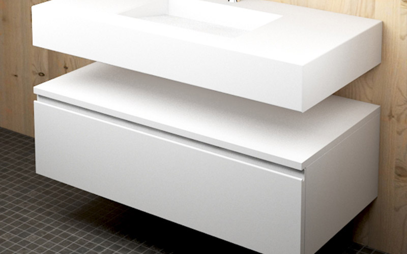 Platos ducha resina lavabos encimeras y ba eras de corian for Tiradores de muebles de salon